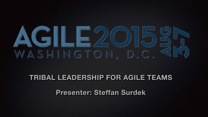 Agile 2015 - Tribal Leadership Agile Teams